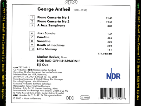 A Jazz Symphony - Piano Concertos 1&2