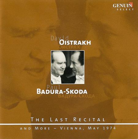 Last Recital With Paul Badura