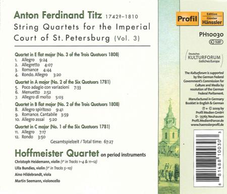String Quartets for the Imperi