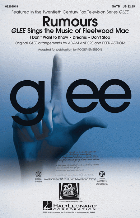 Rumours - Glee Sings The Music Of Fleetwood Mac - ShowTrax CD