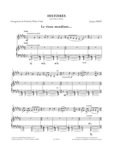 Histoires (Vieux Mendiant/Giddy Girl/Palais Abandonne/ Bajo La Mesa) - Flute Et Piano