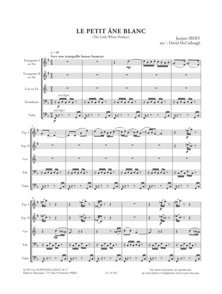 Histoires N002 Le Petit Ane Blanc Quintette de Cuivres
