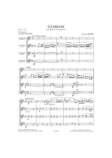 Czardas - 4 Saxophones (SATB)