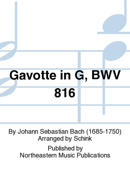 Gavotte in G, BWV 816