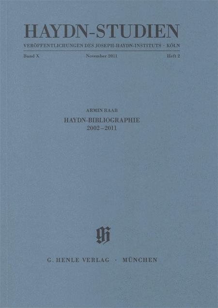 Haydn-Bibliographie 2002-2011
