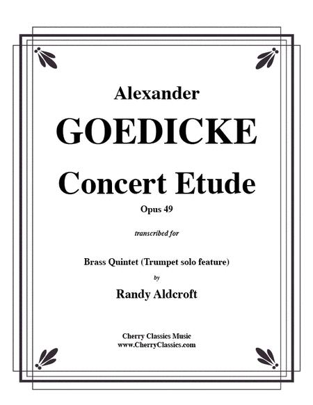 Concert Etude op. 49 for Solo Trumpet in Brass Quintet
