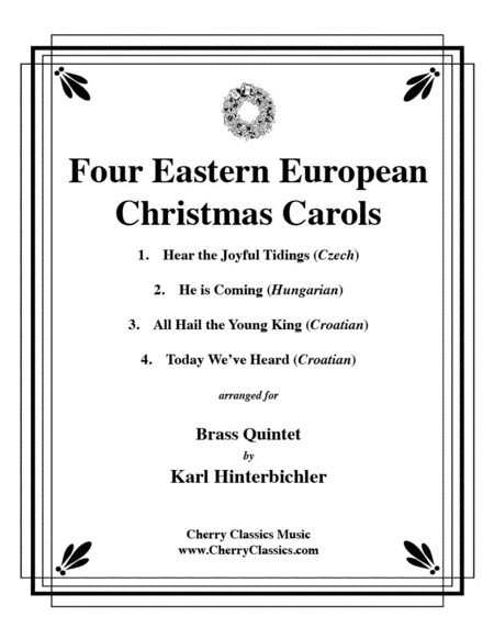 Four Eastern European Christmas Carols for Brass Quintet