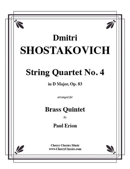 String Quartet No. 4 in D Major, Op. 83 for Brass Quintet