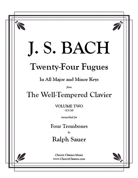 Twenty-Four Fugues from the WTC Vol 2