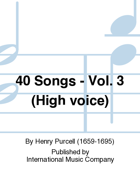 40 Songs - Vol. 3 (High voice)