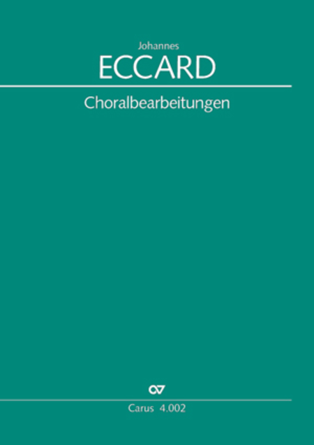 Eccard: 29 Choralbearbeitungen
