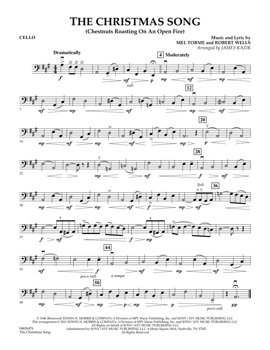 The Christmas Song - Cello