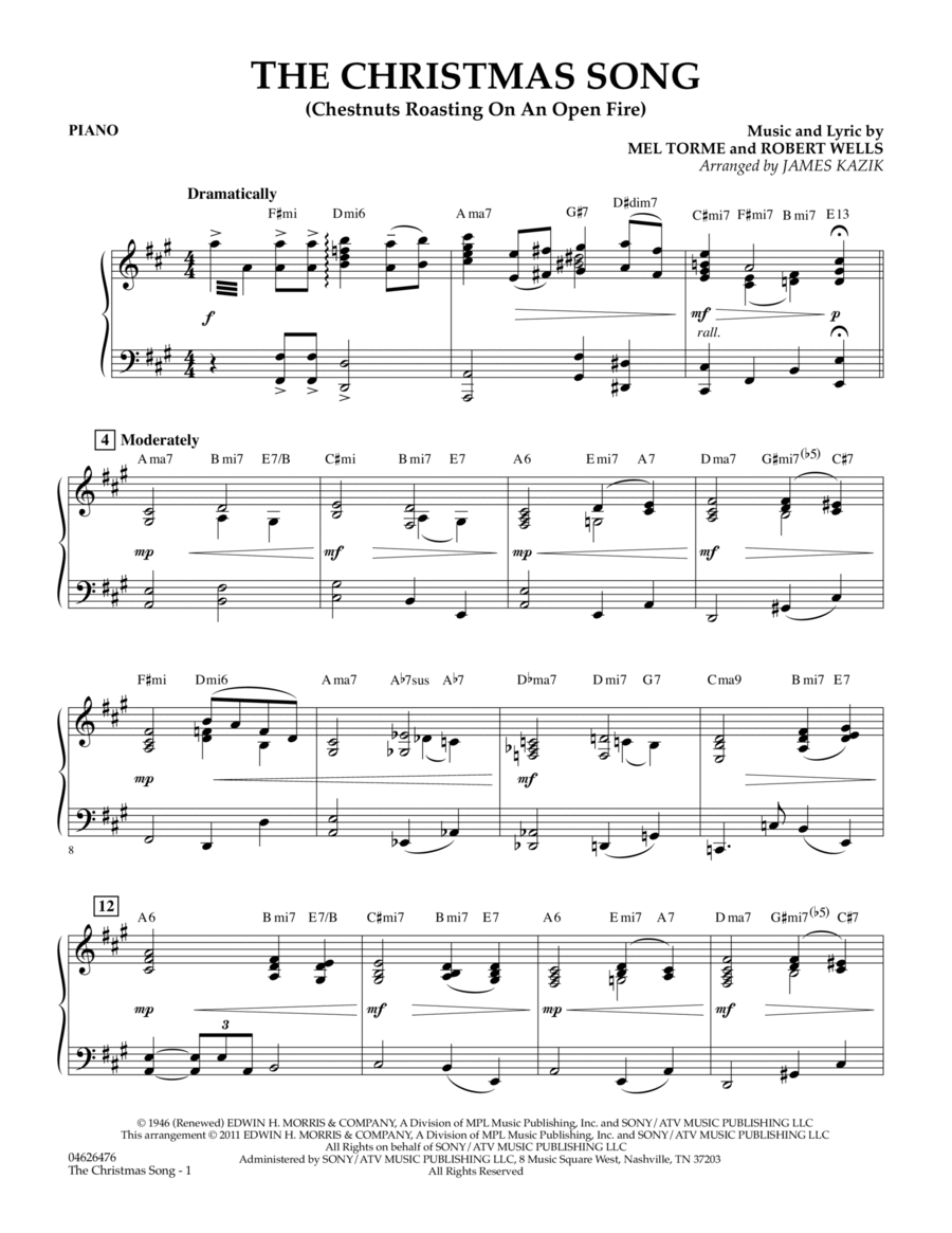 The Christmas Song - Piano