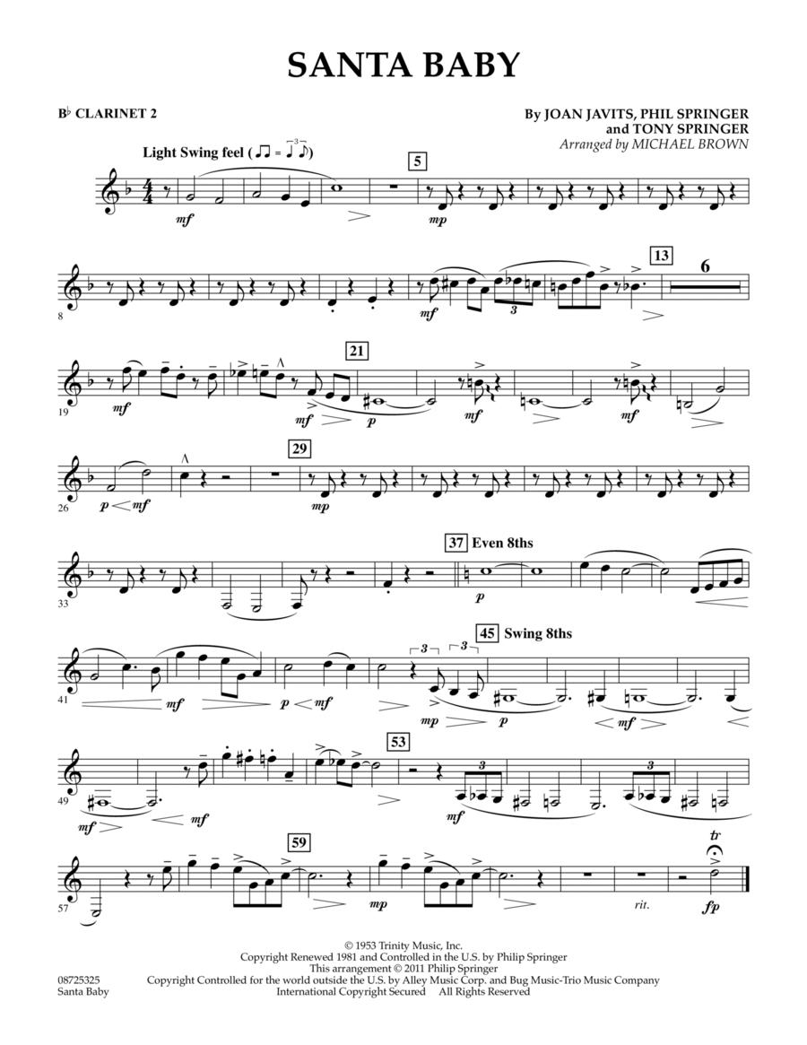 Santa Baby - Bb Clarinet 2