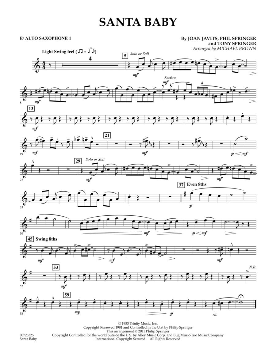 Santa Baby - Eb Alto Saxophone 1