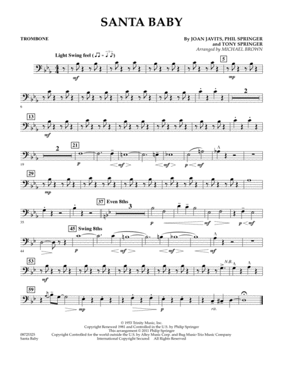 Santa Baby - Trombone