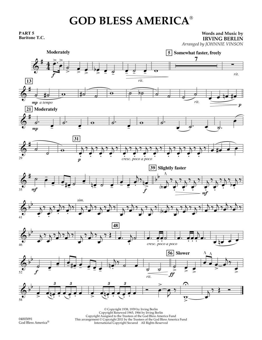 God Bless America - Pt.5 - Baritone T.C.
