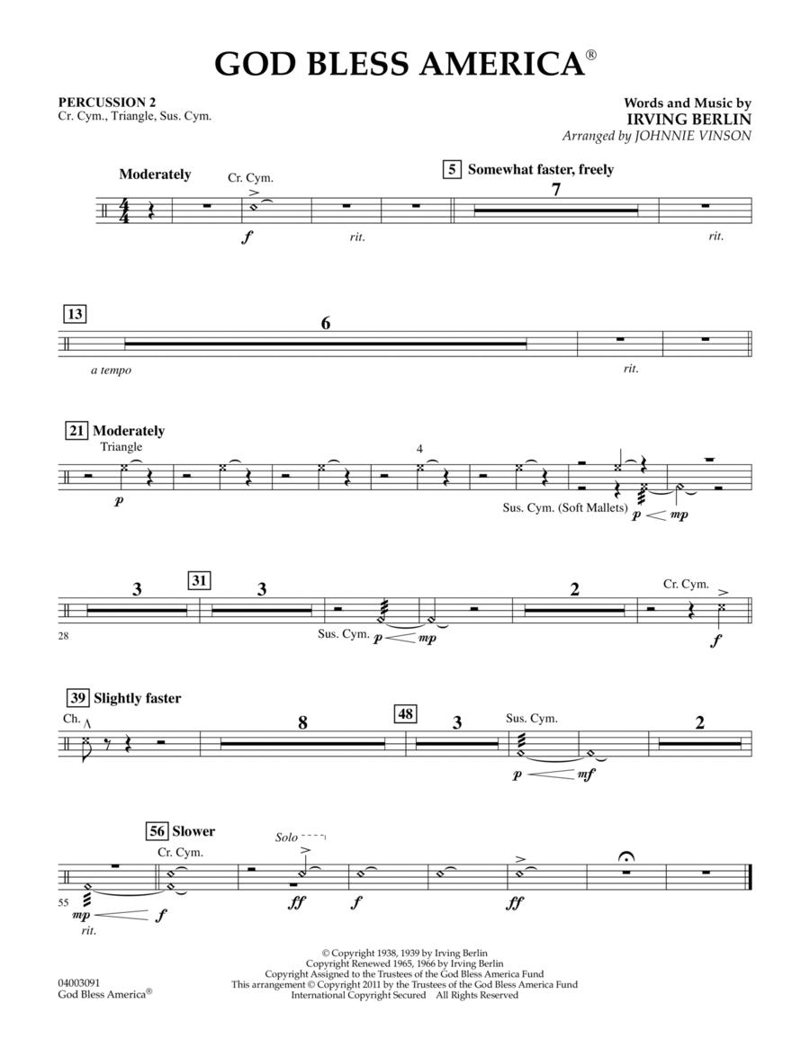 God Bless America - Percussion 2