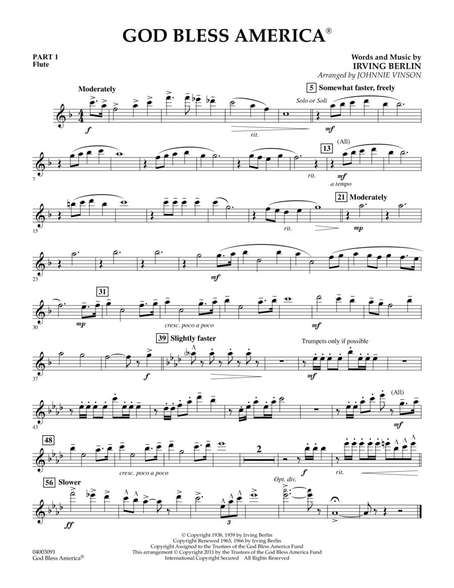 God Bless America - Pt.1 - Flute