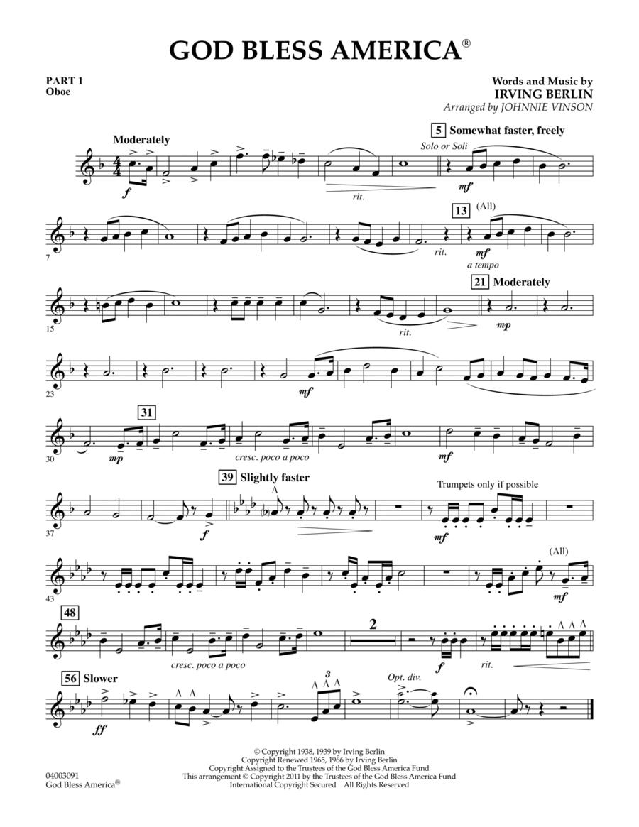 God Bless America - Pt.1 - Oboe