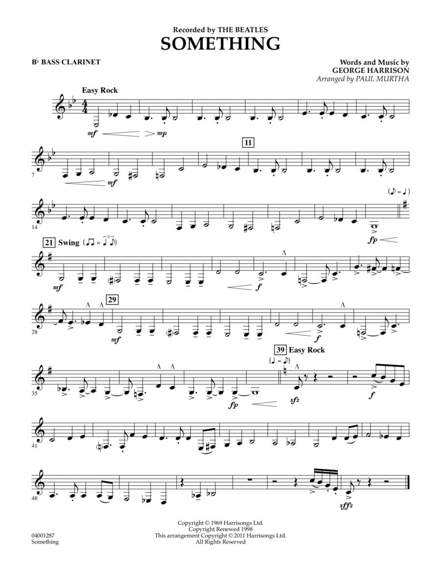 Something - Bb Bass Clarinet