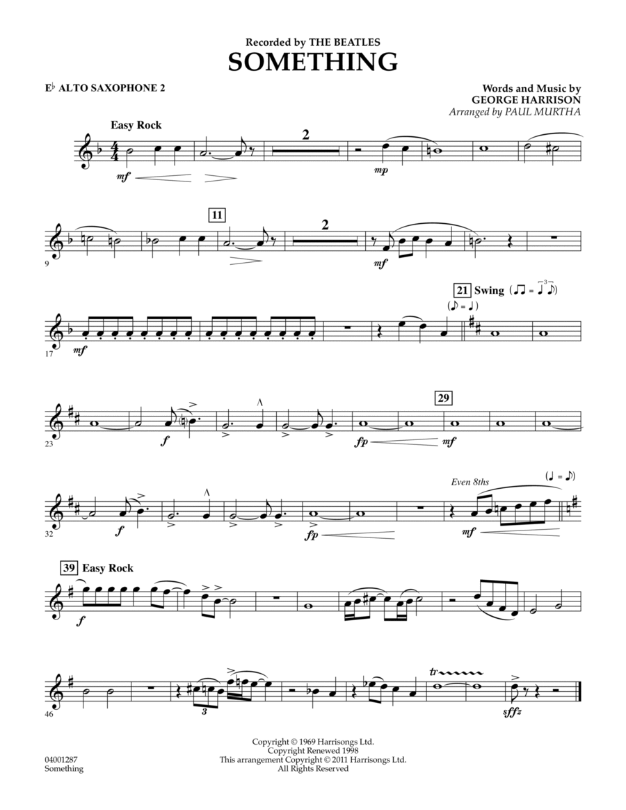 Something - Eb Alto Saxophone 2