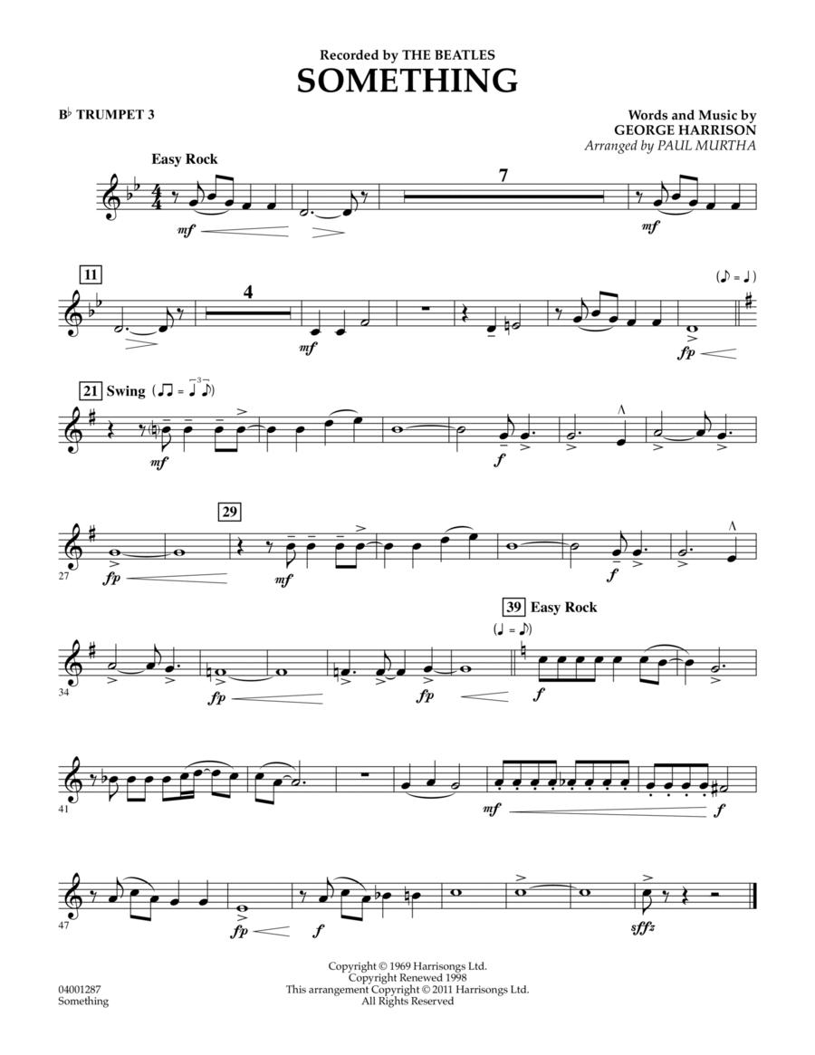Something - Bb Trumpet 3