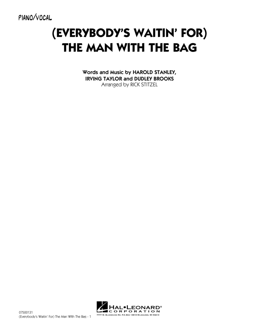 (Everybody's Waitin' For) The Man With The Bag - Piano/Vocal