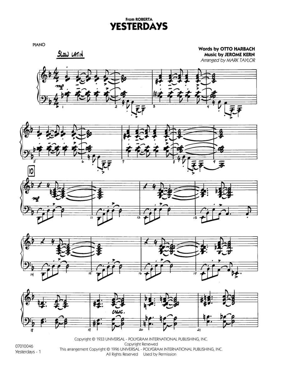 Yesterdays - Piano