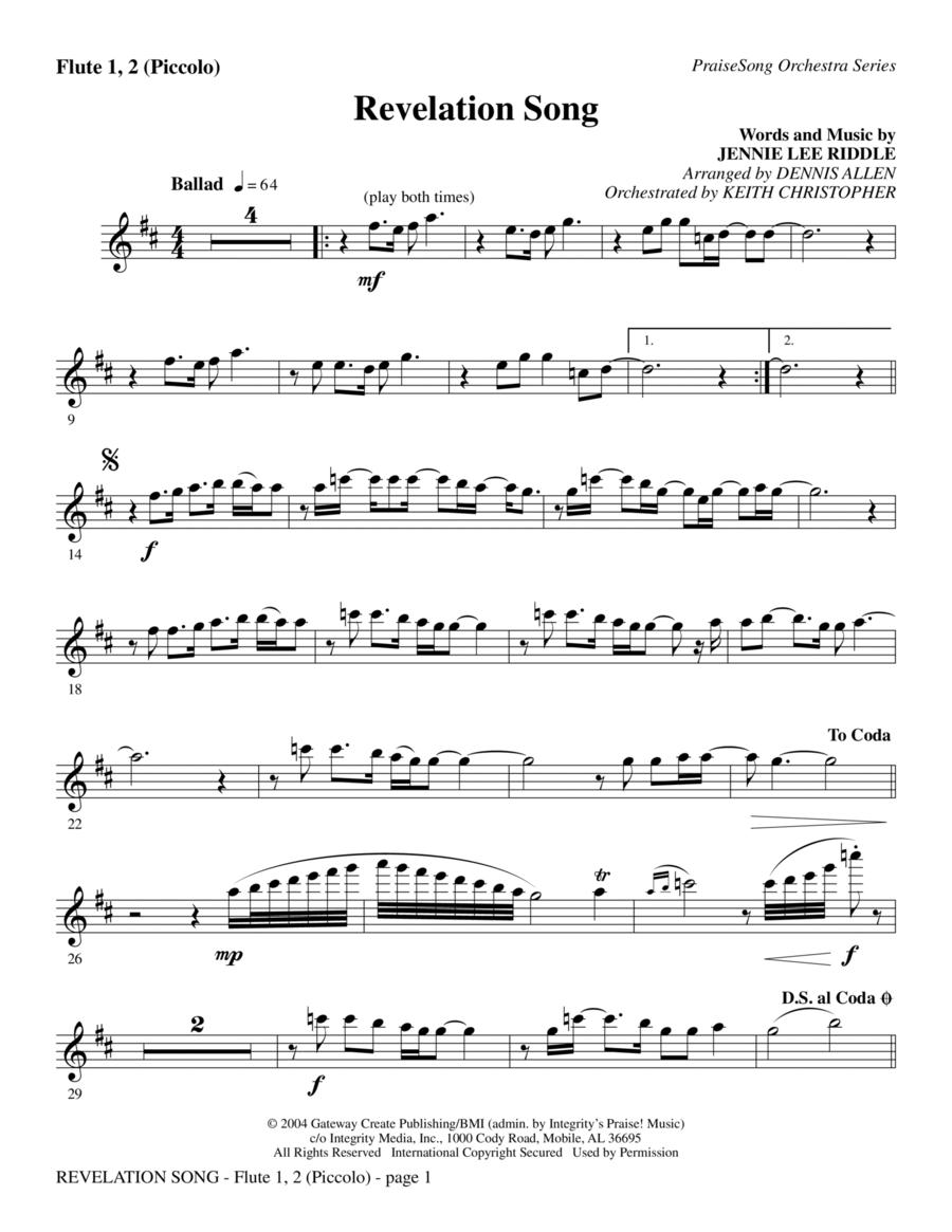 Revelation Song - Flute 1,2/Piccolo