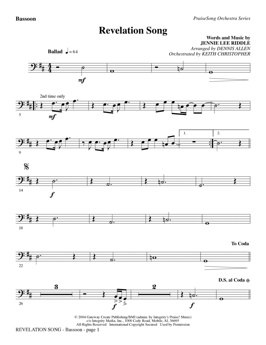 Revelation Song - Bb Trumpet 2-3