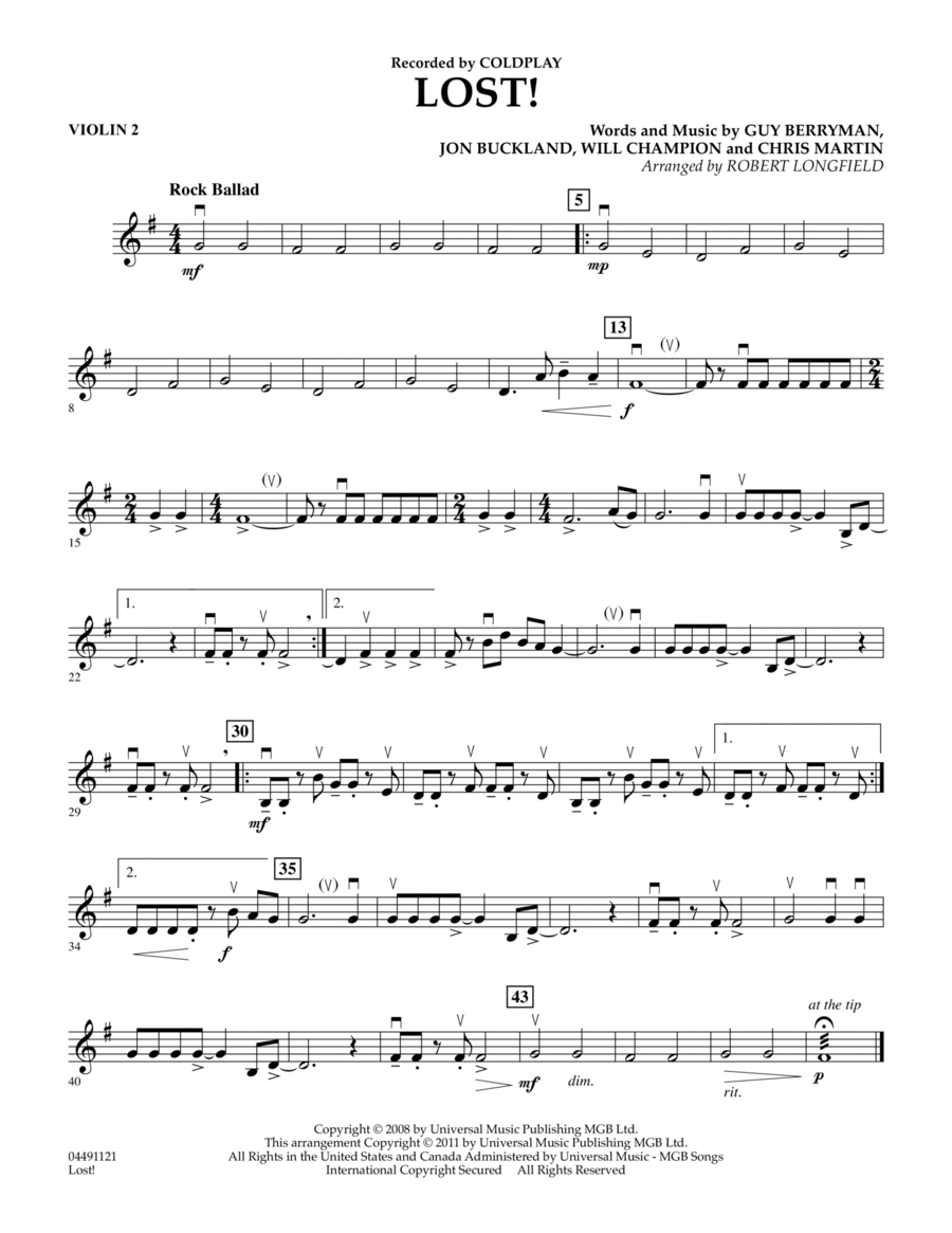 Lost! - Violin 2