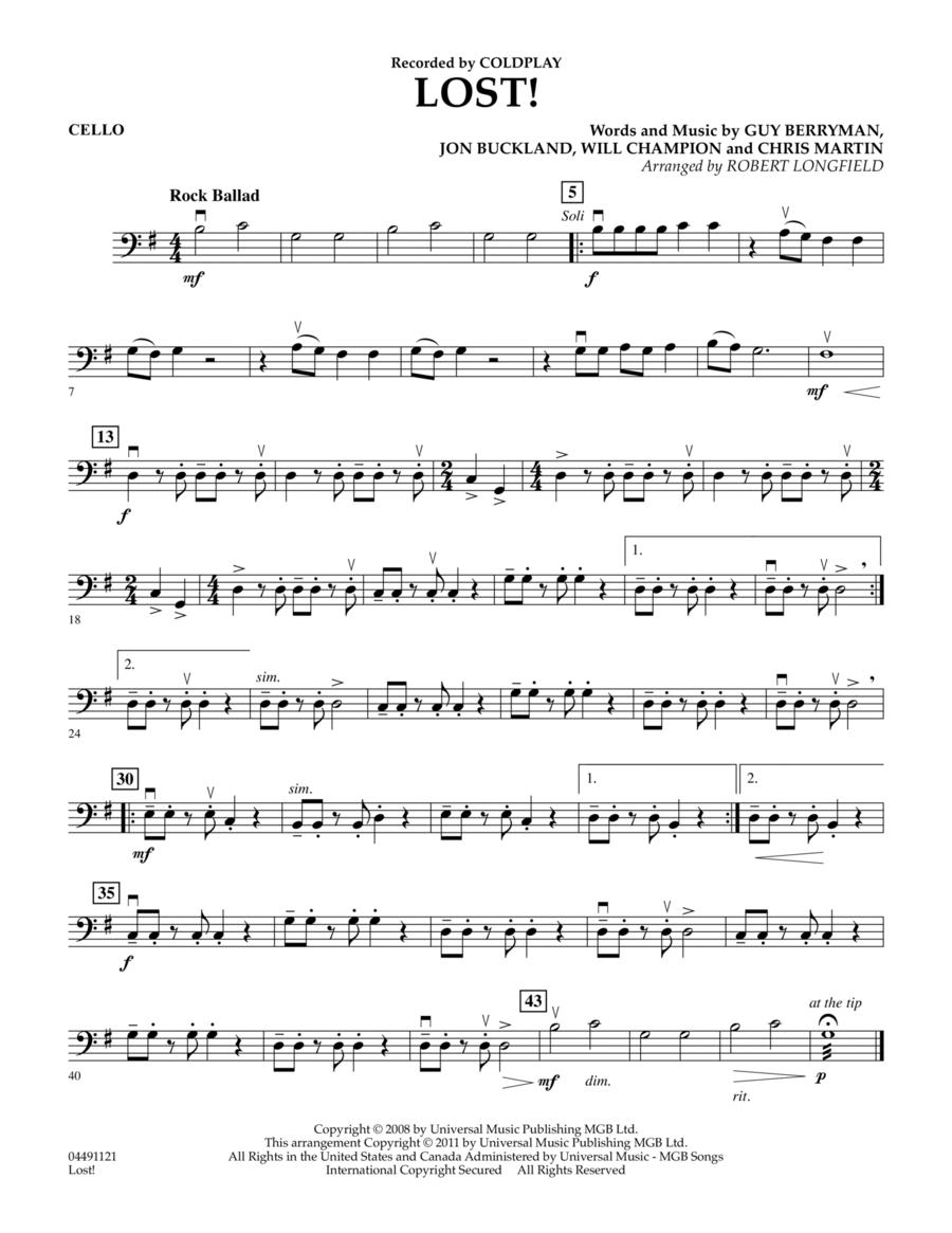 Lost! - Cello