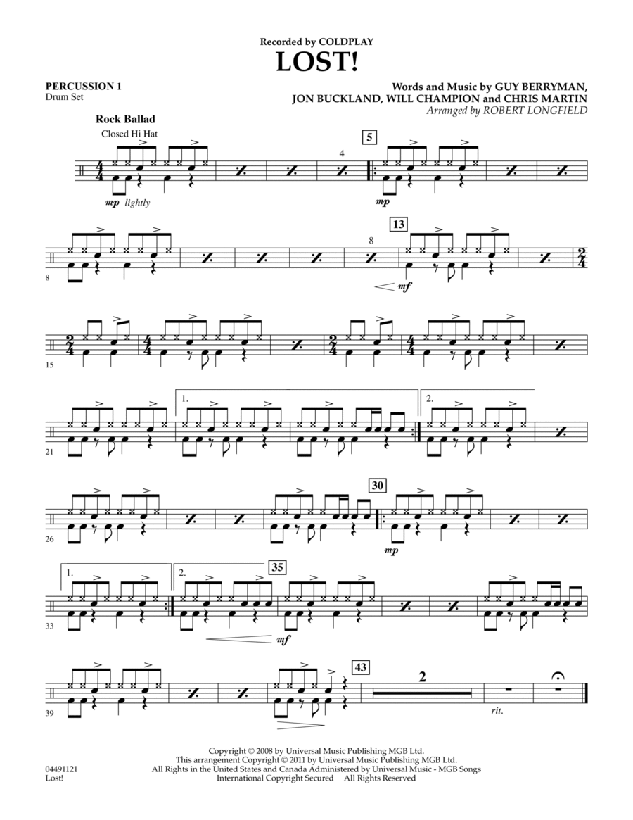 Lost! - Percussion 1