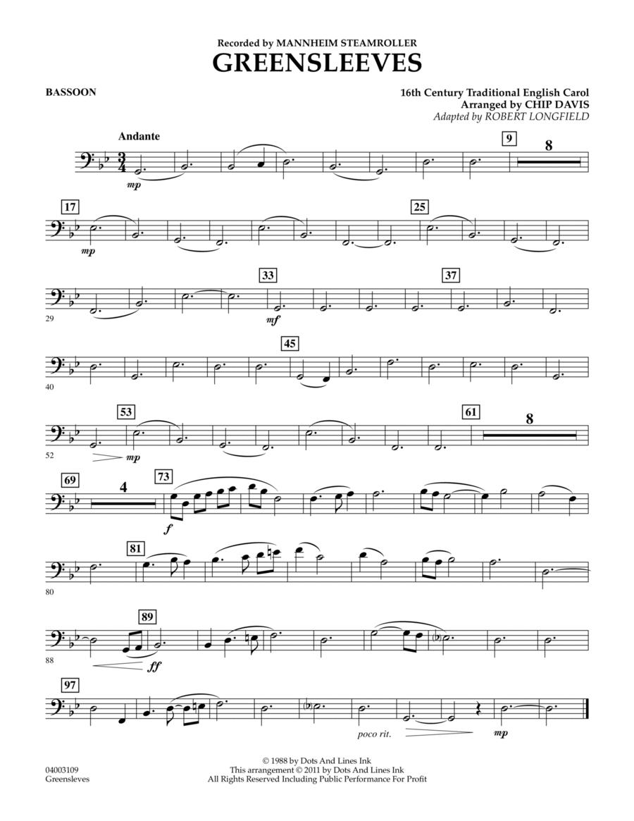 Greensleeves - Bassoon