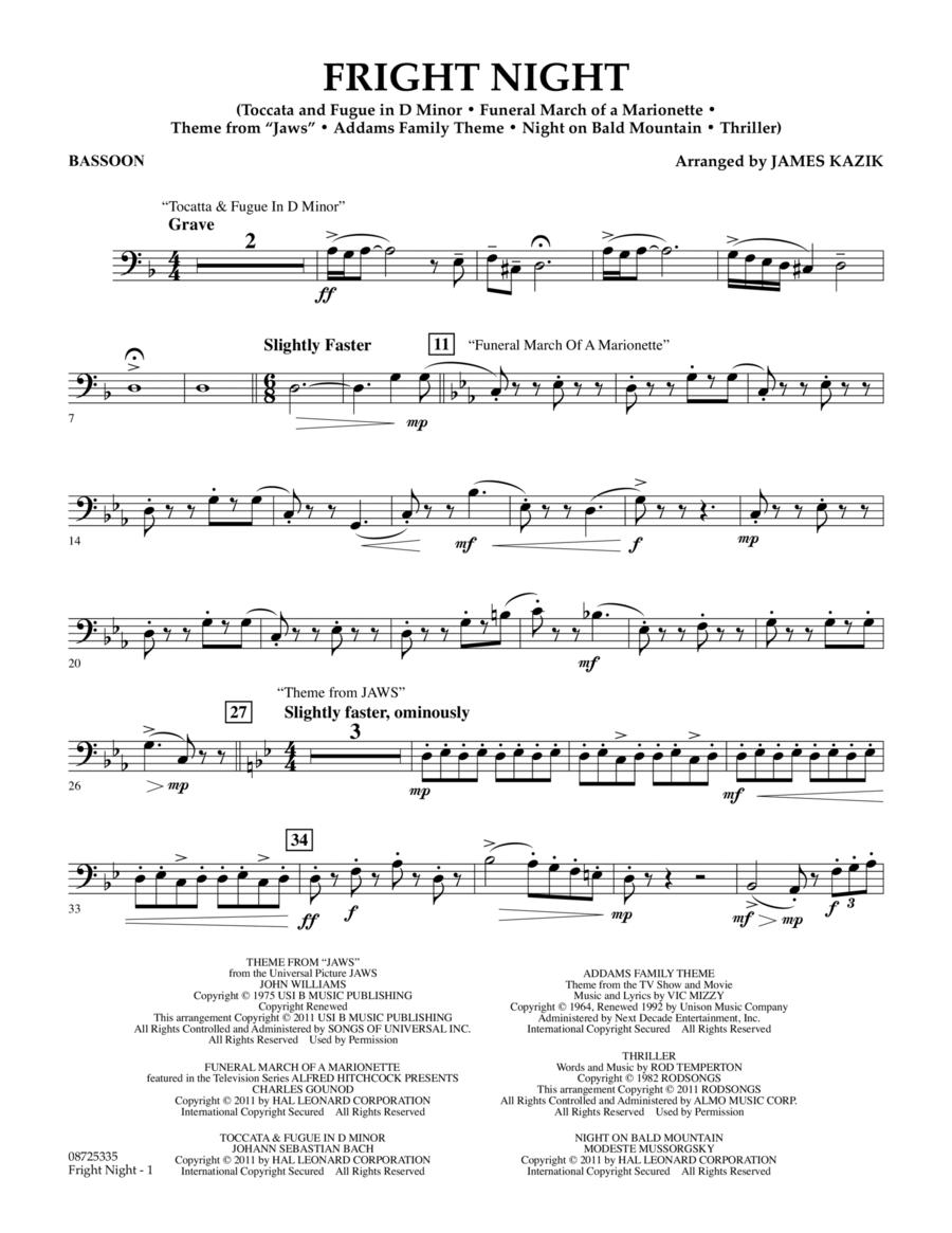 Fright Night - Bassoon