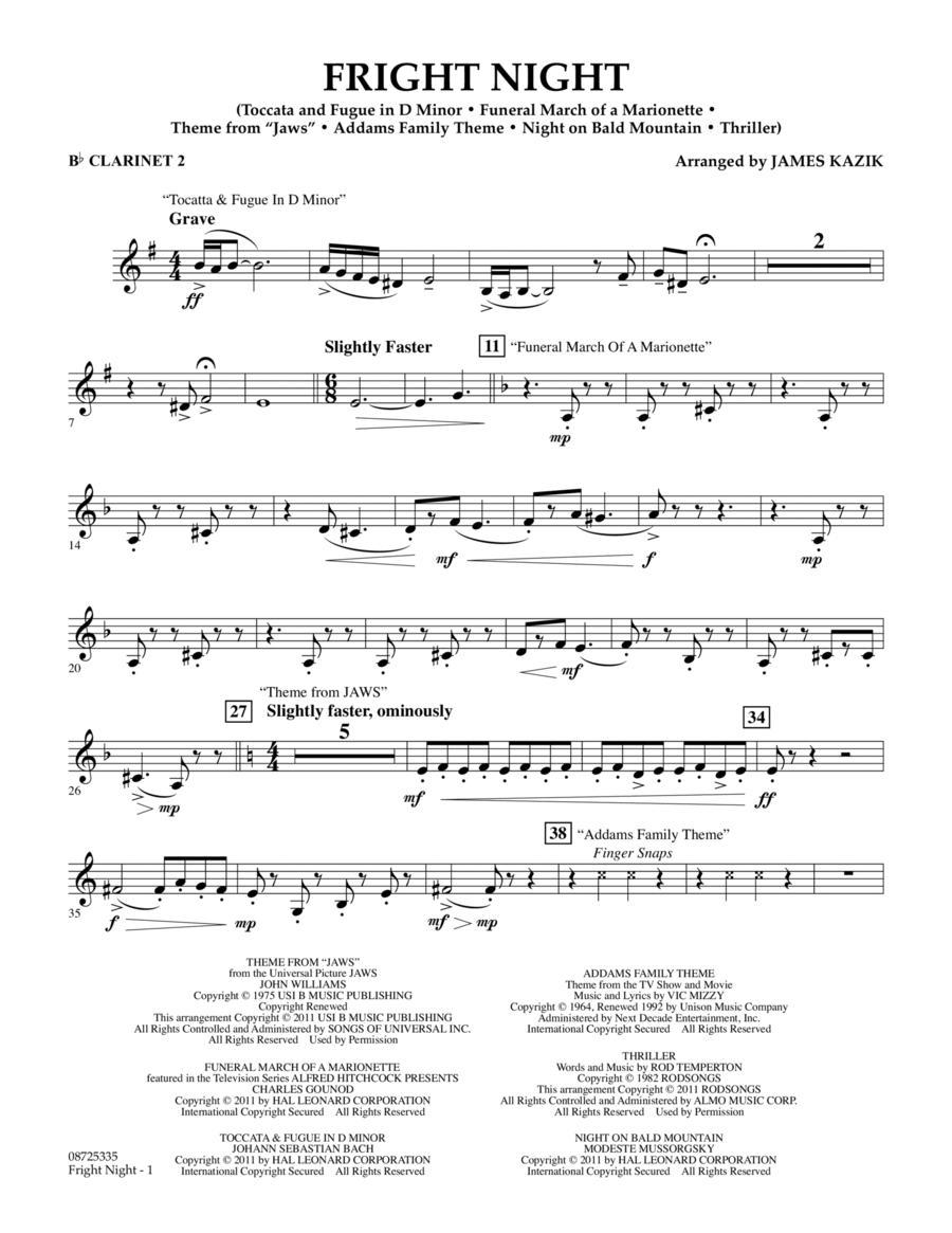 Fright Night - Bb Clarinet 2