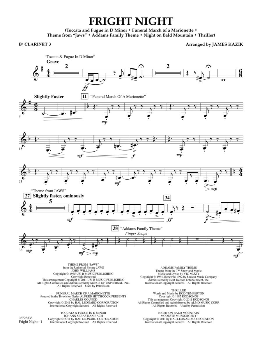 Fright Night - Bb Clarinet 3