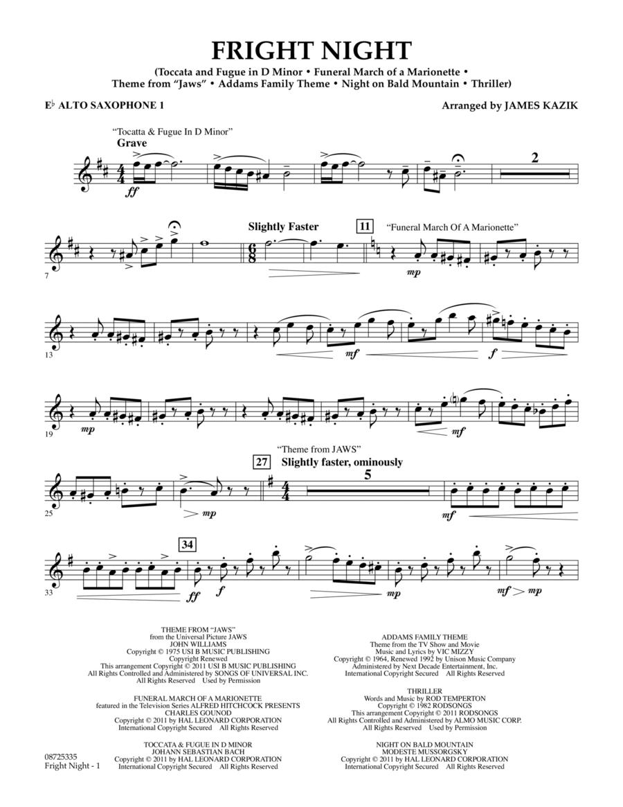 Fright Night - Eb Alto Saxophone 1