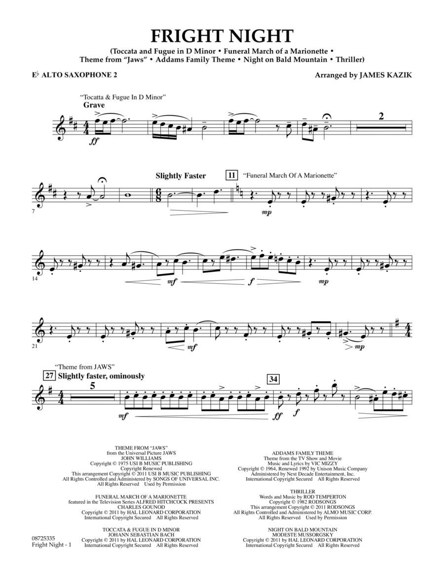 Fright Night - Eb Alto Saxophone 2