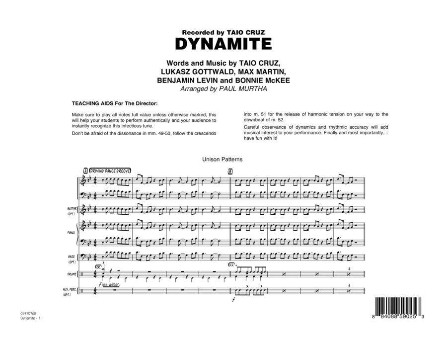Dynamite - Full Score