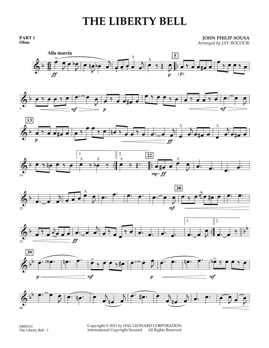 The Liberty Bell - Pt.1 - Oboe