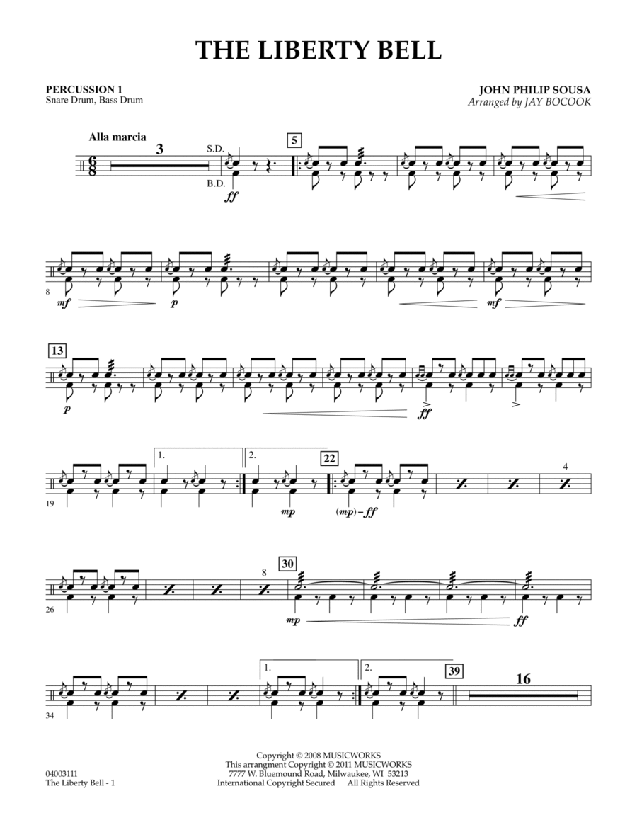 The Liberty Bell - Percussion 1