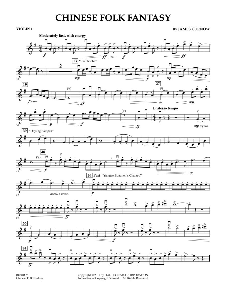 Chinese Folk Fantasy - Violin 1