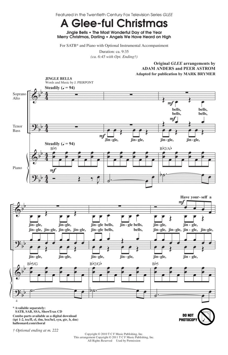 A Glee-ful Christmas (Choral Medley)