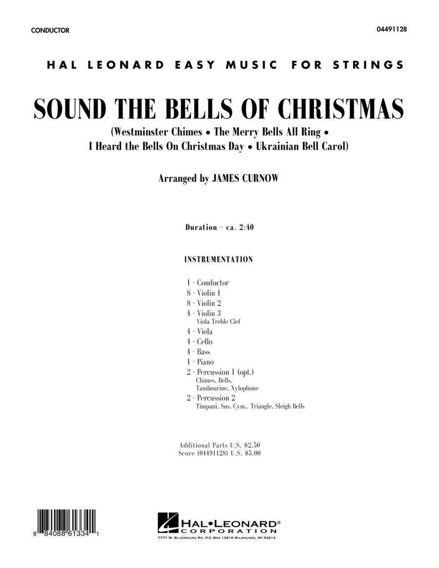 Sound The Bells Of Christmas - Full Score