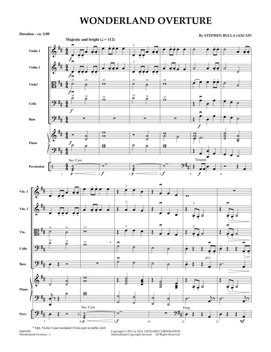 Wonderland Overture - Full Score