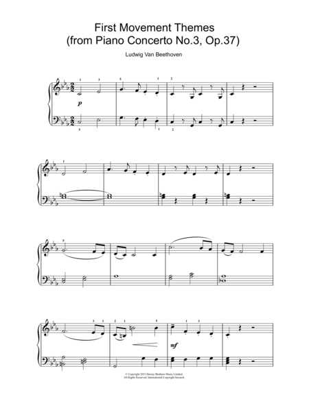 First Movement Themes (from Piano Concerto No.3, Op.37)