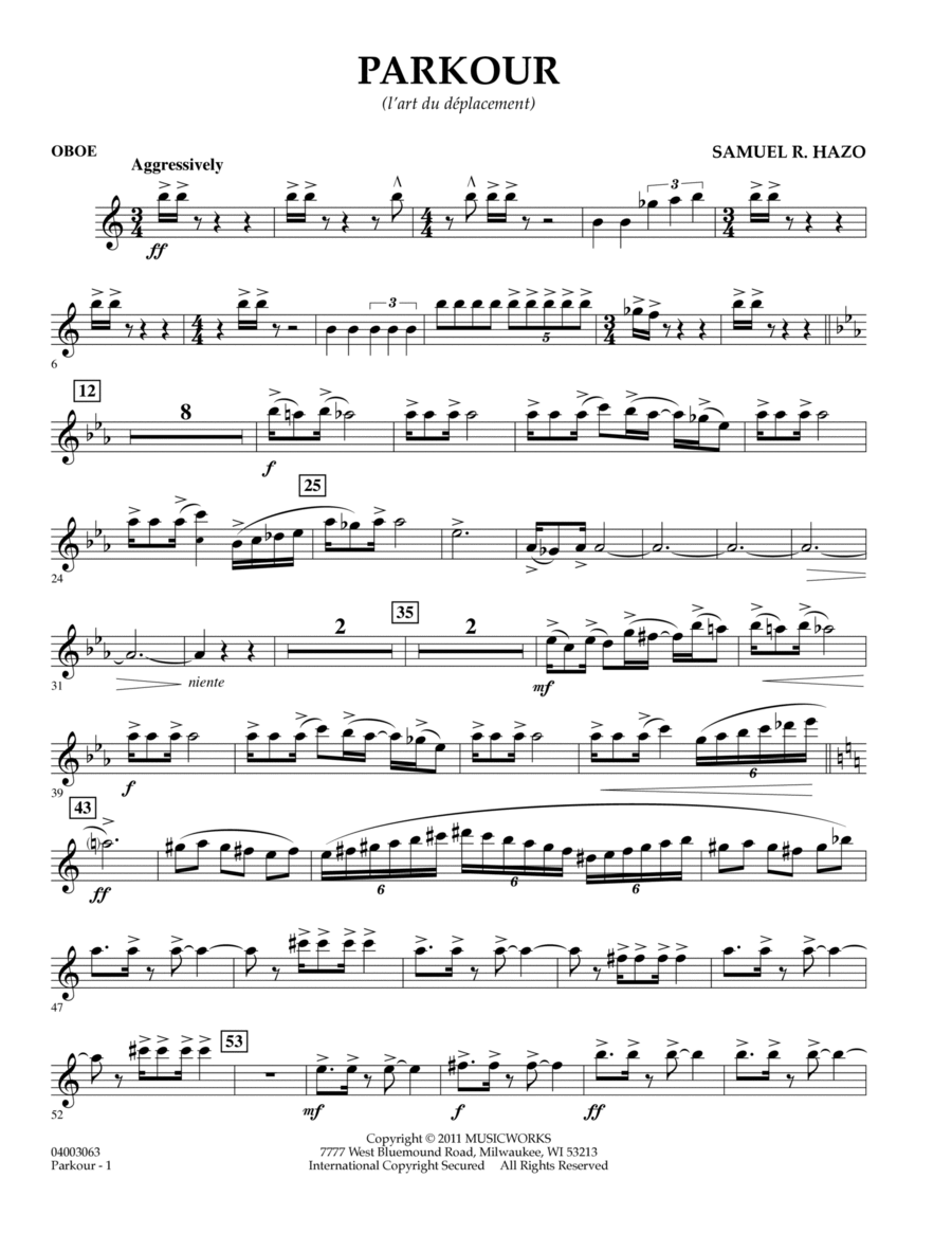 Parkour - Oboe