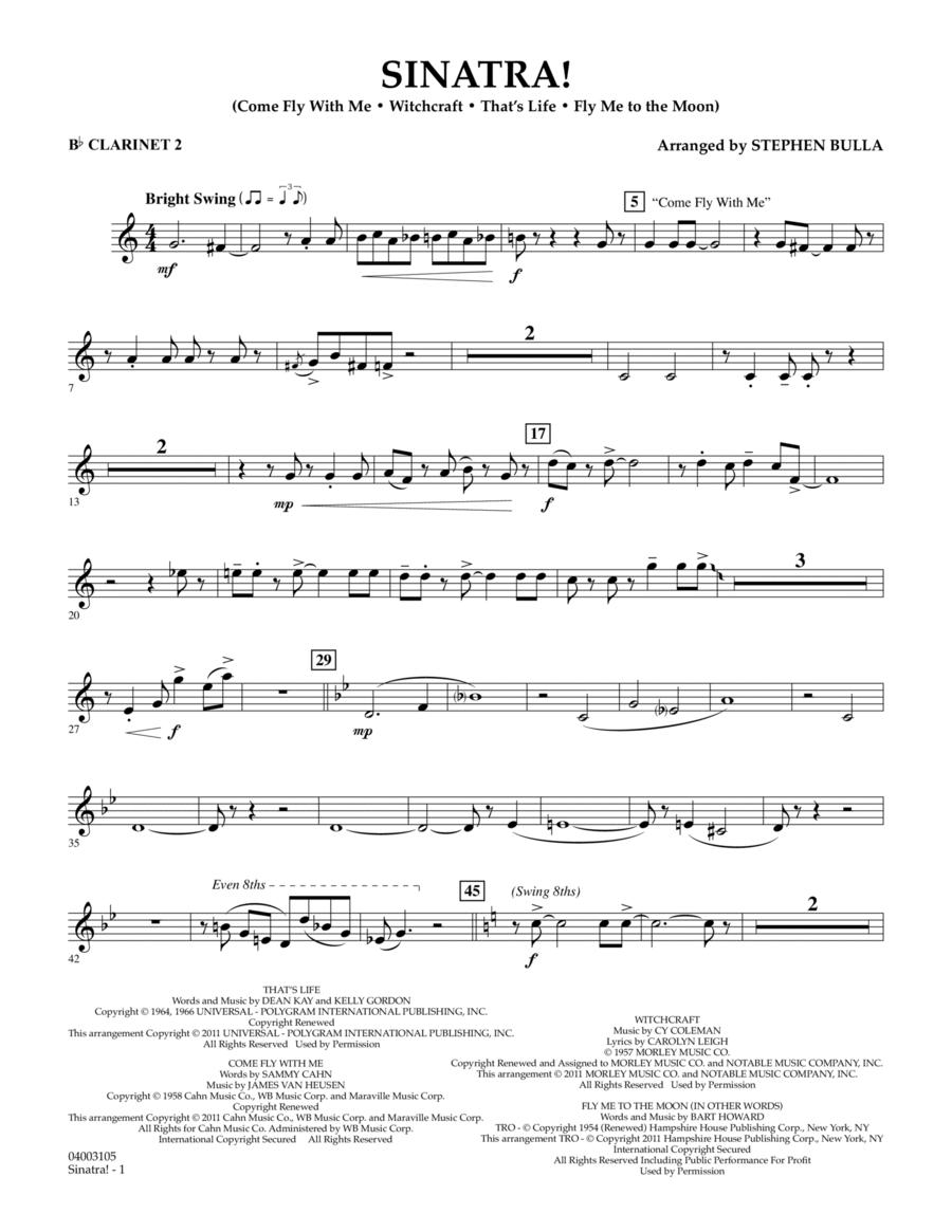 Sinatra! - Bb Clarinet 2